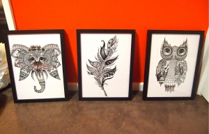 Zoe's Prints that will feature in the Lonsdale Cafe.